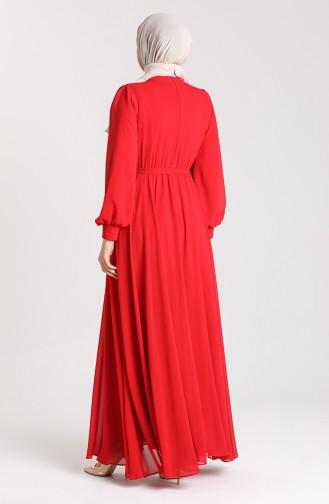 Habillé Hijab Rouge 4826-07