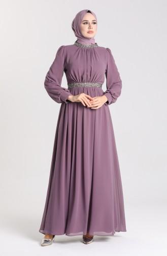 Dusty Rose İslamitische Avondjurk 4850-01