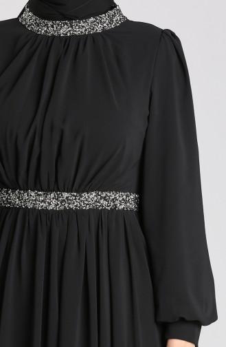 Schwarz Hijab-Abendkleider 4850-02