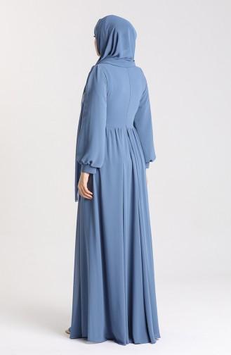 Indigo İslamitische Avondjurk 4851-03