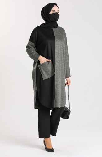 Steel Knitted Masked Tunic 0110-01 Gray 0110-01