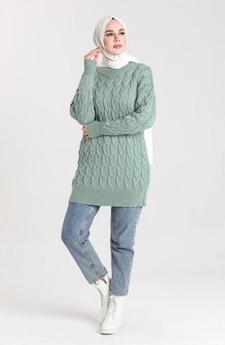 Knitwear Knit Patterned Sweater 4270-05 Sea Green 4270-05