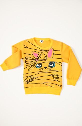 Kız Çocuk Sweatshirt 3500 Sarı