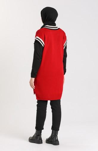 Knitwear V Collar Sweater 4358-03 Burgundy 4358-03
