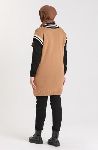 Knitwear V-neck Sweater 4358-05 Milk Coffee 4358-05