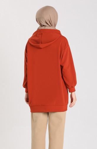 Kanguru Cepli Sweatshirt 1141-01 Kiremit