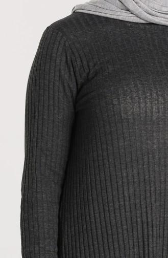 Asimetrik Tunik Pantolon İkili Takım 7730-05 Antrasit
