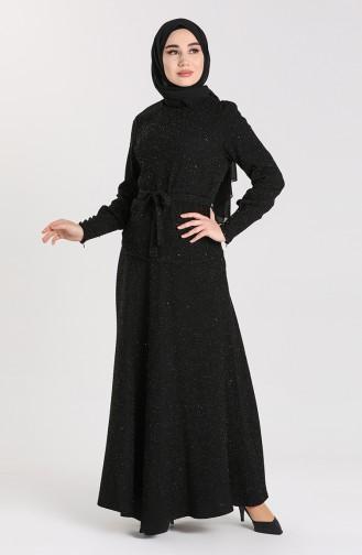 Simli Bluz Etek İkili Takım 60846-01 Siyah 60846-01