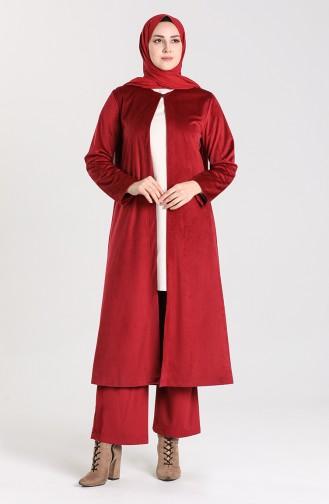 Corduroy Cap Trousers Double Suit 1013-01 Damson 1013-01