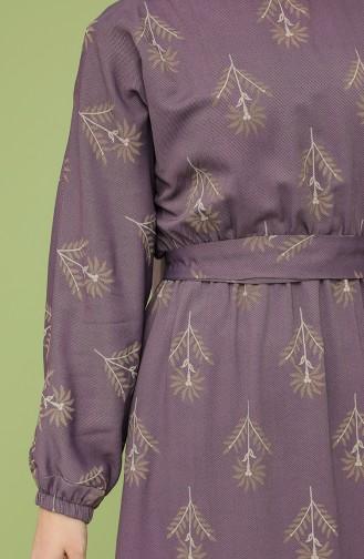 Dark Lilac İslamitische Jurk 21Y8208A-02