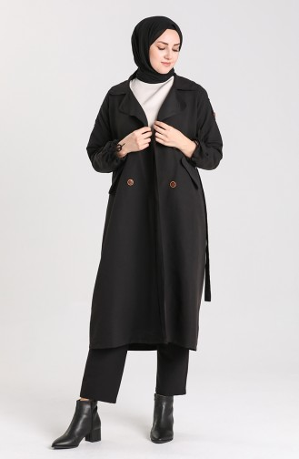 Black Trench Coats Models 5184-01