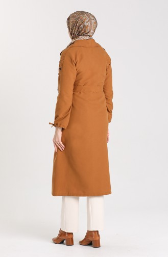 Tobacco Brown Trench Coats Models 5184-02
