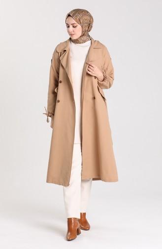 Beige Trench Coats Models 5184-03