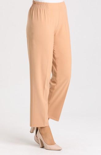 Elastic Waist Trousers 1983-18 Milk Brown 1983-22