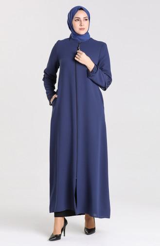 Light Navy Blue Abaya 1577-02