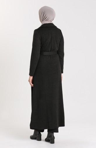 Kemerli Yelek Elbise İkili Takım 2007-01 Füme