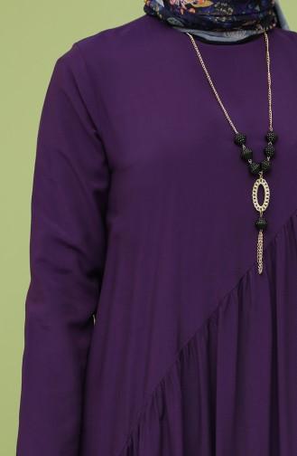 Robe Hijab Pourpre 10111-09
