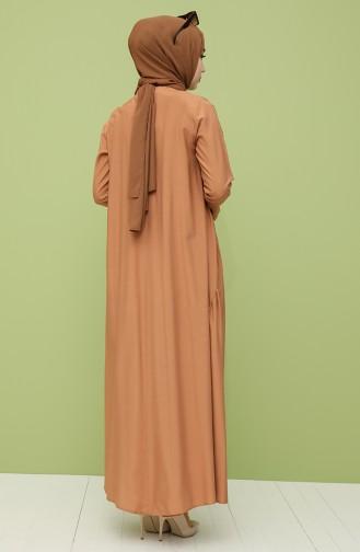 Robe Hijab Pelure d`oignon 10111-10