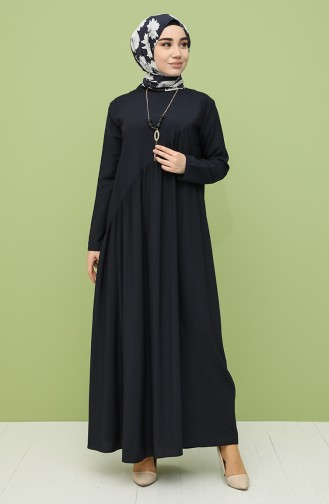 Dunkelblau Hijap Kleider 10111-11