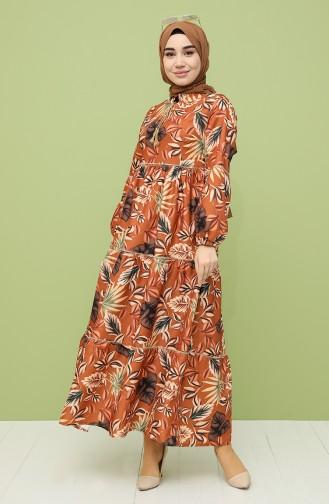 Robe Hijab Tabac 21Y8229-04