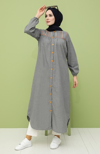 Grau Hijap Kleider 21K8186A-02