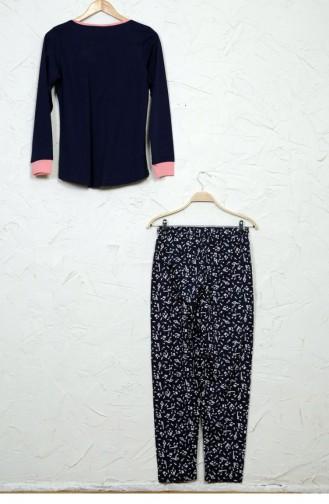 Dunkelblau Pyjama 50660524.