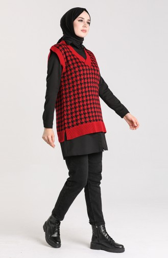 Weinrot Pullover 4347-04