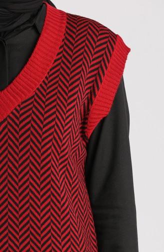 كنزة أحمر كلاريت 4348-03