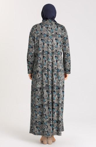 فستان أزرق زيتي 4783-01