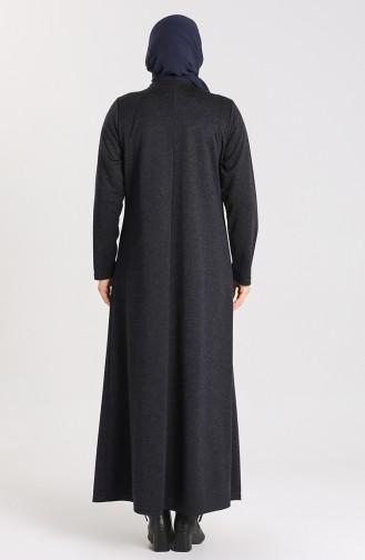 Dunkelblau Hijap Kleider 4440-05