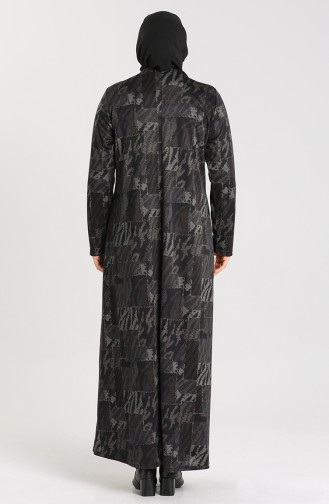 Robe Hijab Antracite 4873A-01