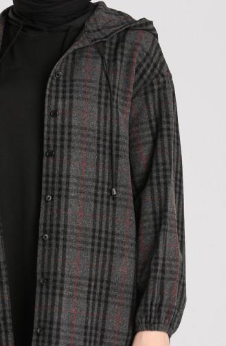 Kapüşonlu Oduncu Gömlek 2427-02 Antrasit