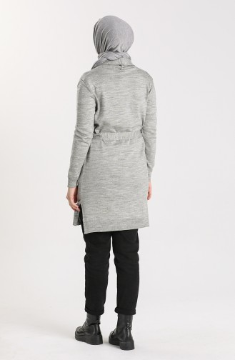 Knitwear Sweater with Pockets 0607-03 Gray 0607-03