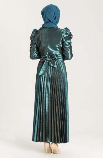 Petrol Hijab Dress 006161-01