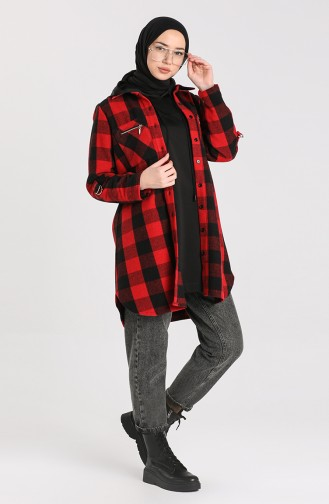Checked Tunic 2426-03 Red 2426-03
