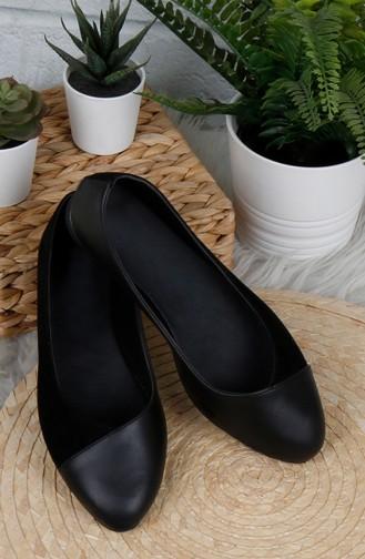 Black Women`s Flats 0182-01