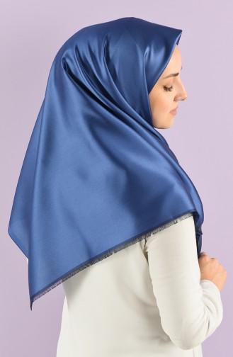 Düz Tafta Eşarp 90683-15 Kot Mavi