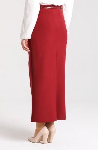 تنورة أحمر كلاريت 2220-12