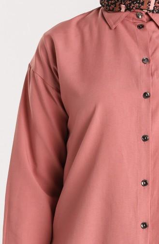 Düğmeli Gömlek 3238-03 Gül Kurusu 3238-03