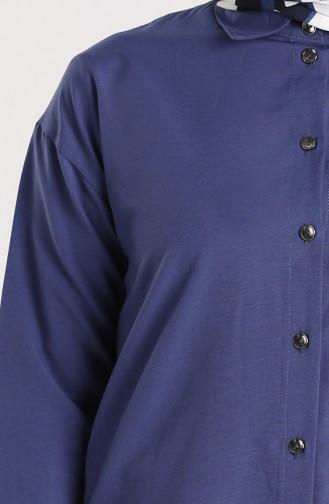 Düğmeli Gömlek 3238-06 Koyu İndigo 3238-06