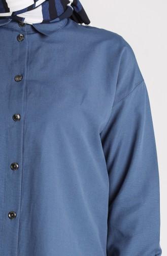 Düğmeli Gömlek 3238-09 İndigo 3238-09
