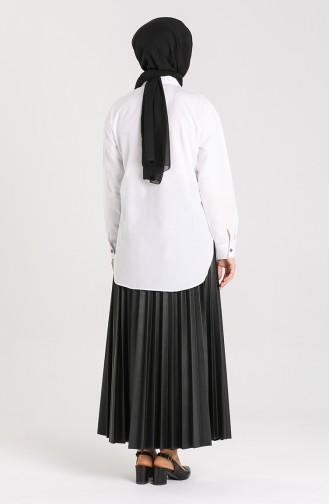 White Overhemdblouse 3238-10