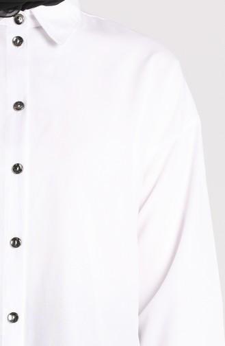 Düğmeli Gömlek 3238-10 Beyaz 3238-10