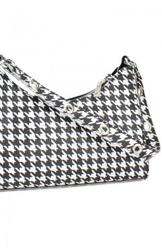 Housebags Baguette Çanta 0195-07 Kaz Ayağı