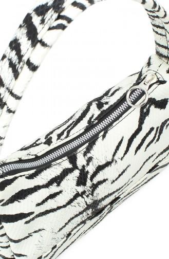 Housebags Baguette Bayan Çanta 0197-03 Kroko Zebra Desenli
