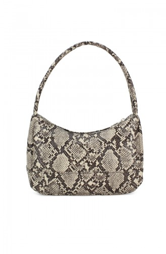 Housebags Baguette Bayan Çanta 0197-08 Yılan Desen