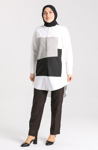 Pantalon Couleur Brun 0102-03