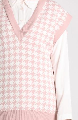 Knitwear Crowbar Patterned Sweater 4265-01 Powder 4265-01