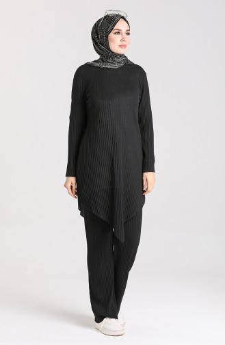 Tunik Pantolon İkili Takım 7733-03 Siyah