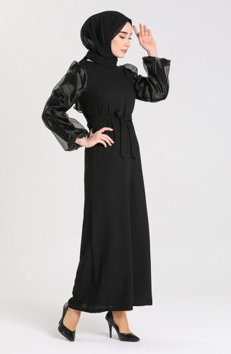 Black İslamitische Jurk 0123-01
